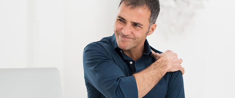 man with osteoporosis